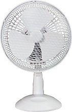 Simple Value White Desk Fan - 7 Inch