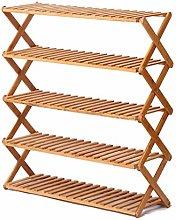 Simple Wooden Shoe Rack Multi-layer Shoe Cabinet