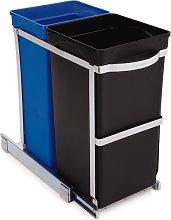 simplehuman 35 Litre Recyle Bin in Cabinet - Black