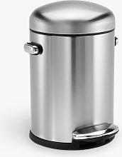 simplehuman Retro Bathroom Pedal Bin, 4.5L