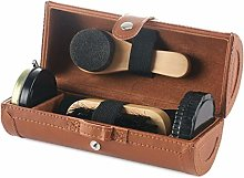 SimpleLife Travel Shoe Shine Kit with Leather