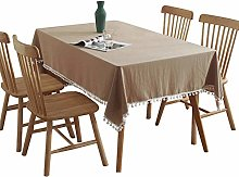Simplicity Solid Color Linen Tablecloth Indoor