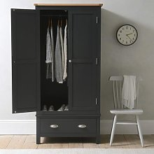 Simply Cotswold Charcoal Double Wardrobe with