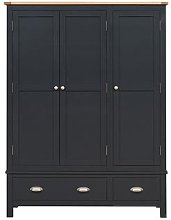 Simply Cotswold Charcoal Triple Wardrobe
