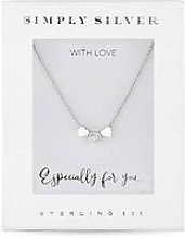 Simply Silver Triple Heart Pendant In Gift Box