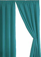 Simply Style Teal Thermal Backed Readymade Curtain