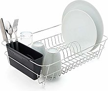 simplywire - Chrome Dish Drainer with Black