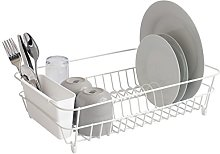 simplywire - White Dish Drainer with Cutlery