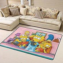 Simpsons Area Rug Floor Rugs Living Room Bedroom