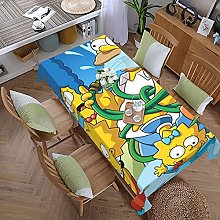 Simpsons Cartoon Anime 59 Inches X 107.9 Inches