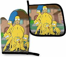 Simpsons Oven Mitts and Pot Holders Sets Hanging