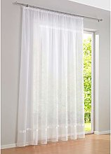 SIMPVALE 1 Panel Sheer Curtain with Pencil Pleat -