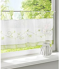 SIMPVALE 1 Piece Cafe Curtain with Flower