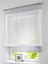 SIMPVALE 1 Piece Roman Blind Curtain Window
