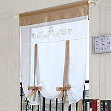 SIMPVALE 1 Piece Roman Curtain With Rod Pocket -