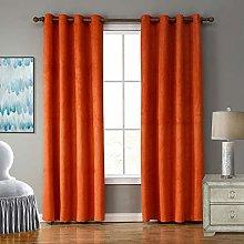 SIMPVALE 2 Panels Eyelet Blackout Curtain for