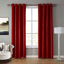 SIMPVALE 2 Panels Eyelet Semi-Blackout Curtain for