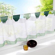 SIMPVALE Cotton Linen Cafe Curtain Valances