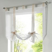 SIMPVALE Roman Curtains Translucent Voile Roman