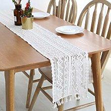 SIMPVALE Table Runner Boho Design Crochet Lace