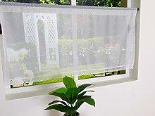 SIMPVALE Voile Curtains Net curtain Roman Blind
