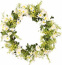 Simulation Daisy Wreath, wuayi Artificial
