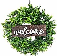 Simulation Wreath Welcome Door Decoration Green