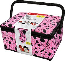 Singer Sewing Basket, 11.5 x 6 x 6.5 inches, Pink