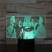 Singing Like an Boss Acrylic USB Friends Fun 3D