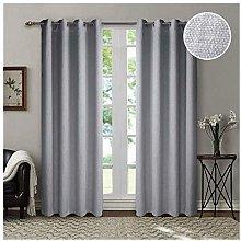 Singinglory 85% Opaque Curtain with Tiebacks 140 x