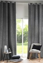 Single Anthracite eyelet curtain 130x300