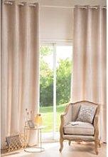 Single Beige Eyelet Curtain 130x300