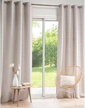 Single Beige Eyelet Curtain 140x250