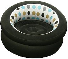 Single - Black/White - Inflatable Blow UP Chair