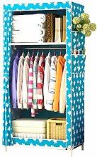 Single canvas wardrobe clothes storage cabinet
