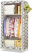 Single Canvas Wardrobe Clothes Storage Cupboard