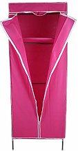 Single Canvas Wardrobe with Zipper Folding Closet