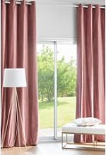 Single dusty pink velvet eyelet curtain 140x300cm