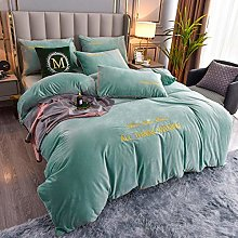single duvet cover set boys-Winter thick coral