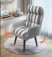 Single Fabric Accent Armchair 360 Degree Swivel