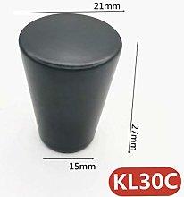 Single Hole Furniture Handle Black Color Aluminum