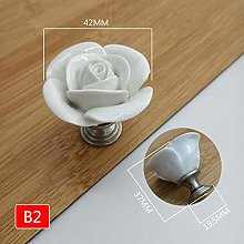 Single Hole Knobs Rose Round Heart Shape Furniture