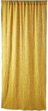 Single Mustard Yellow Tab Top Curtain 110x250