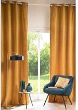 Single Mustard Yellow Velvet Curtain 140x300