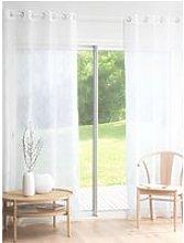 Single Patterned Beige Eyelet Curtain 140x250