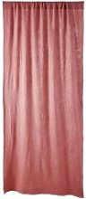 Single Raspberry Cotton Curtain with Gathered