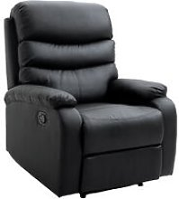 Single Recliner Sofa PU Leather Armchair Padded