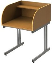 Single Sided C-Leg Study Carrel Starter Desk, Beech