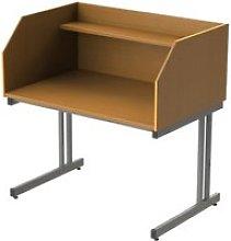 Single Sided C-Leg Study Carrel Starter Desk, Oak