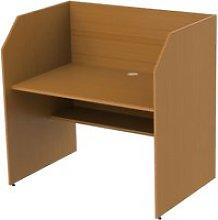 Single Sided Panel End Study Carrel Starter Desk,